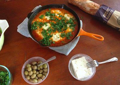 Fresh Tomato Shakshuka Recipe   mostly foodstuffs