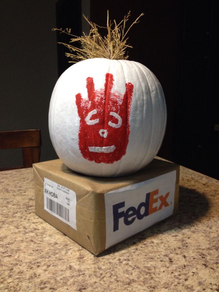 Cute decorated pumpkin (:
