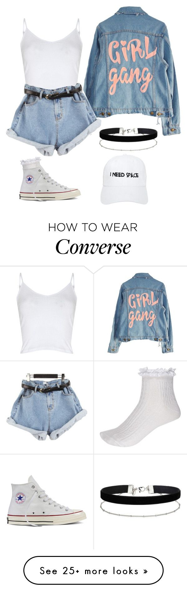 """""""Untitled #582"""" by madelin-ruby on Polyvore featuring Glamorous, High Heels Suicide, River Island, Converse, Miss Selfridge and Nasaseasons"""