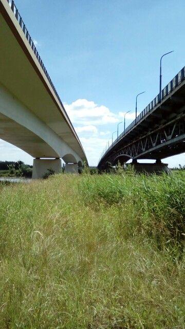 Most  #Sandomierz #świętokrzyskie #Polska. Bridge old new