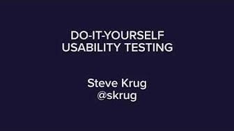Example Usability Test with a Paper Prototype - YouTube
