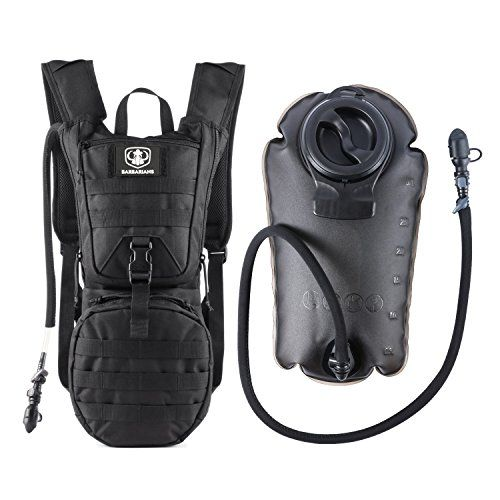Tactical Hydration Pack Water Backpack with 3L Bladder, Barbarians Lightweight Military Molle Backpack Black. For product & price info go to:  https://all4hiking.com/products/tactical-hydration-pack-water-backpack-with-3l-bladder-barbarians-lightweight-military-molle-backpack-black/