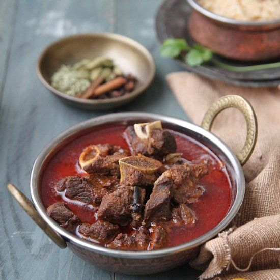 Muttton slow cooked with a whole lot of spices and yoghurt till tender