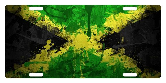 JAMAICA Flag  Custom License Plate Jamaican  by ProudOfMyFlag