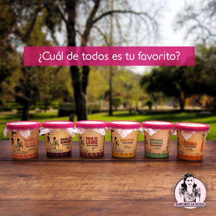 Chirimoya alegre, chocolate araucano, dulce de leche, maracuya, limón menta albahaca o lúcuma… A ver, a ver ¿Cuál de todos es tu favorito?