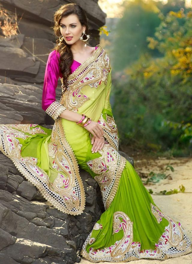 The fabric used in the saree is thoroughly researched by the designers, they make it sure whether the design they are going to use on the fabric will go well