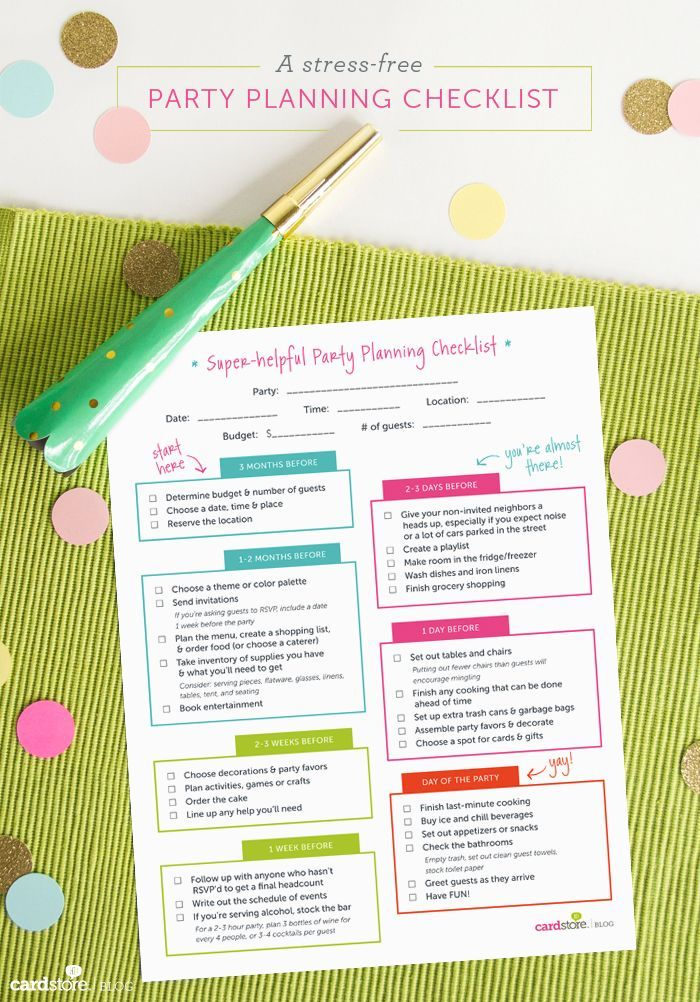 11 best needed images on Pinterest Birthday party checklist - birthday party checklist template