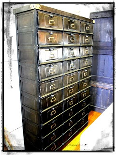 """Charcoal Interiors """"Style in the City"""" Blog. Designer Show Cabinet. Industrial Shoe Cabinet. Pret a Porter shoe cabinet. Old Mail Cabinet. Industrial Style. Charcoal Interiors Interior Design Brisbane."""