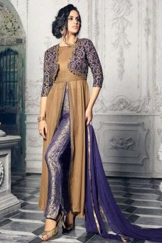 Gold and Blue Designer Partywear Georgette Fabric Crop Pant Style Suit  #gold #blue #pantstylesuit #croptop #salwarkameez #jacketstylesuit #salwarsuits #dresses #onlinedress #dressmaterial #suits #partywear #festivewear 3traditional #wedding #occasionally #casualwear #printed #embroidered #fancy #stylish #newarrival #latestdesign #model #fashion #women #mohiniglamour33 #gebastore #partydress #churidarsuit #pakistanibrides #bridalcollection #India #Pakistan #Indonesia #Germany #Saudi #Africa