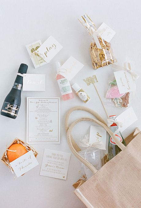 Brides.com: . Fill Welcome Bags. Stuff these with candy and goodies for your out-of-town guests and deliver them to the hotel. That way, when…