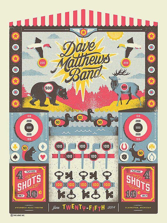 Silkscreen Dave Matthews Band Poster - 18 x 24 - Limited Edition