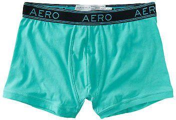 Aeropostale Mens Solid Knit Trunks Underwear