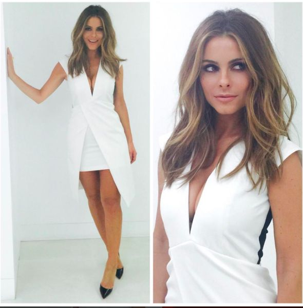 Featured on E! News, Maria Menounos wearing our 'Irene' ring