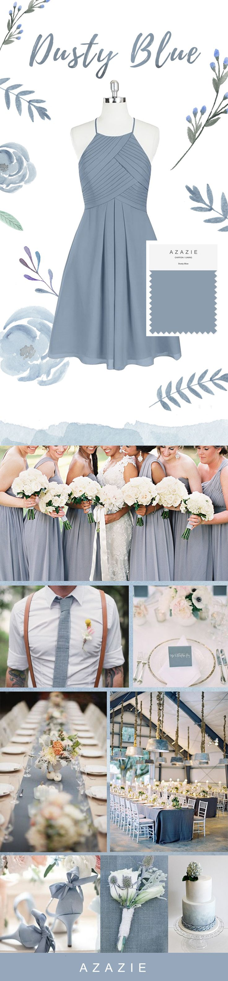 The perfect soft blue for your entire bridal party! Shop our dusty blue shade in over 200 styles!