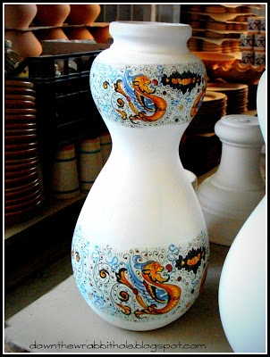 """Visit a pottery factory in Umbria, Italy - a great side trip in Italy! Find out more at """"Down the Wrabbit Hole - The Travel Bucket List"""". Click the image for the blog post."""
