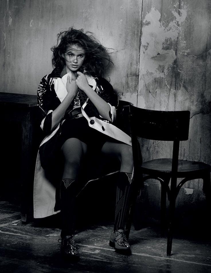 Kaia Gerber   Black & White Prada Editorial   Interview Magazine