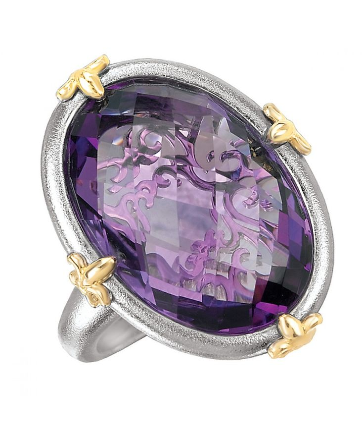 14KTT TESORO AMETHYST RING, 20X14 OVAL - Fashion Ring - Rings - Jewellery & Gifts