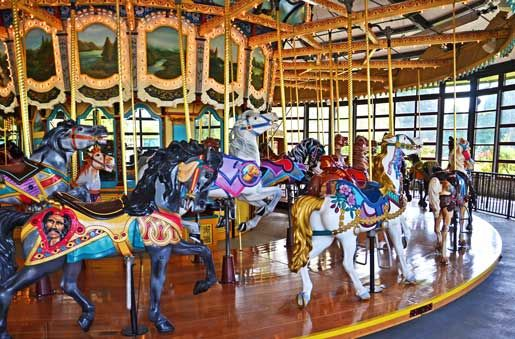 The Historic Carousel at the Woodland Park Zoo Seattle Attractions