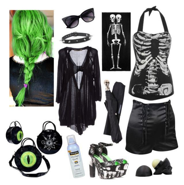 """""""Beach Goth :Inspired by Iron Fist"""" by rstitch13 ❤ liked on Polyvore featuring Forever 21, Space Style Concept and Alexander McQueen"""
