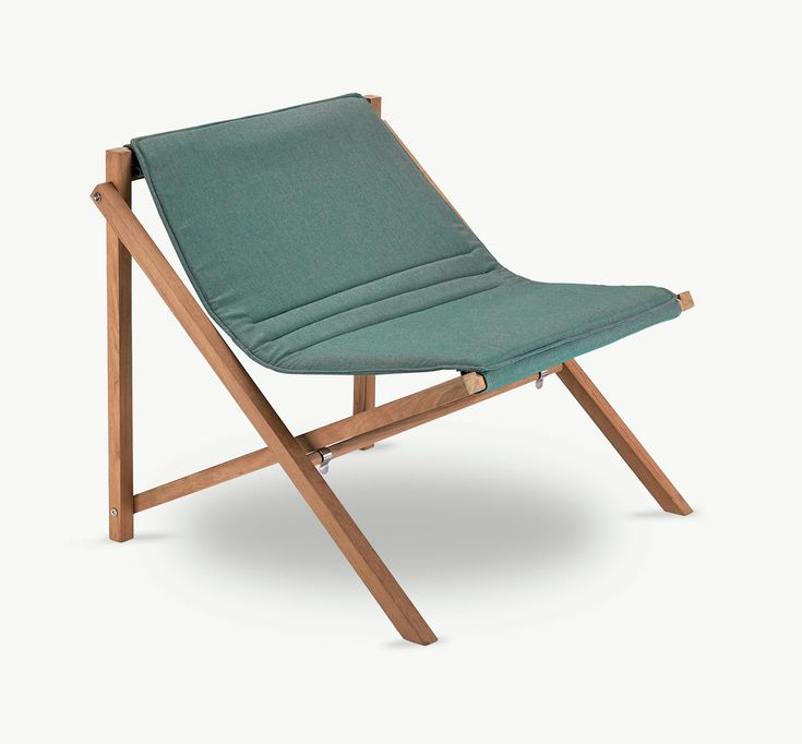 Danish modern outdoor folding chair that's built to withstand different weather conditions