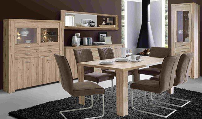 Bahut 2 Portes Et 3 Tiroirs Catania Imitation Chene Clair Salle A Manger Complete Buffet Contemporain Mobilier De Salon