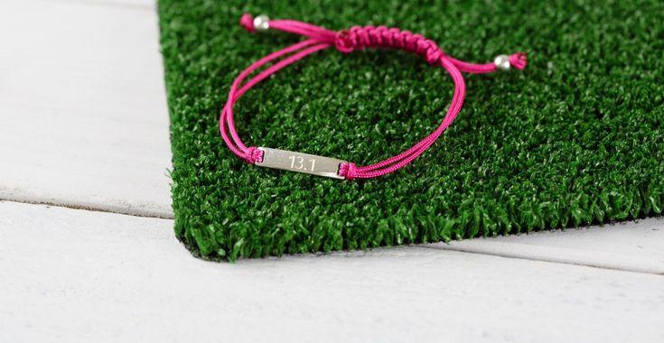 Running bracelet, running jewelry, personalized run bracelet, half marathon jewelry,customized sports gift, marathon jewelry, fitness gift
