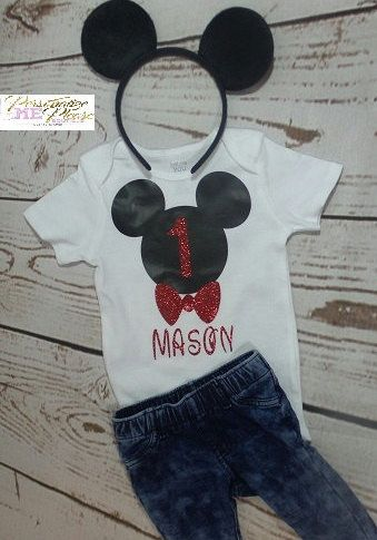 Camiseta de cumpleaños de Mickey Mouse cumpleaños traje traje