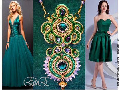"""Колье """"Принцесса Персии"""" Продано - зелёный,сутаж,сутажная вышивка,сутажные украшения"""