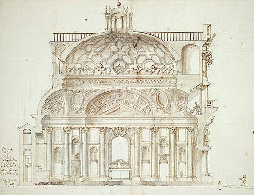 San Carlo alle Quattro Fontane: Interior Elevation