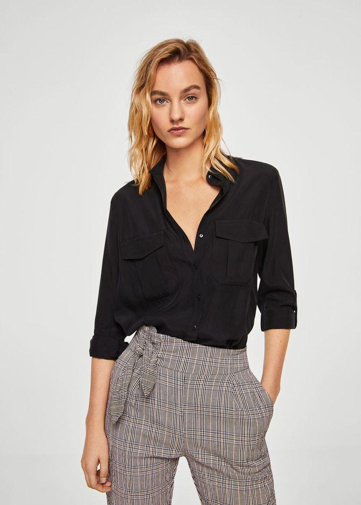 Chemise poches à rabat -  Femme | MANGO France