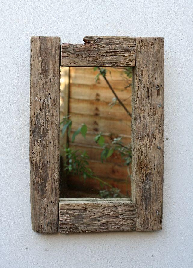 Driftwood Mirror, 62x42 cm, Drift wood Mirror, Cornwall, Stunning wood texture!  £70.00