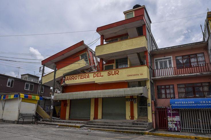 Las fotos más impactantes del terremoto que sacudió el sur de México