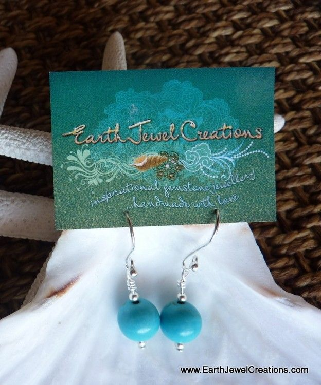 Gemstone Drop Earrings - Inspirational handmade gemstone jewellery Earth Jewel Creations Australia
