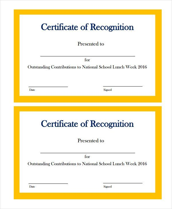 recognition certificate templates for word