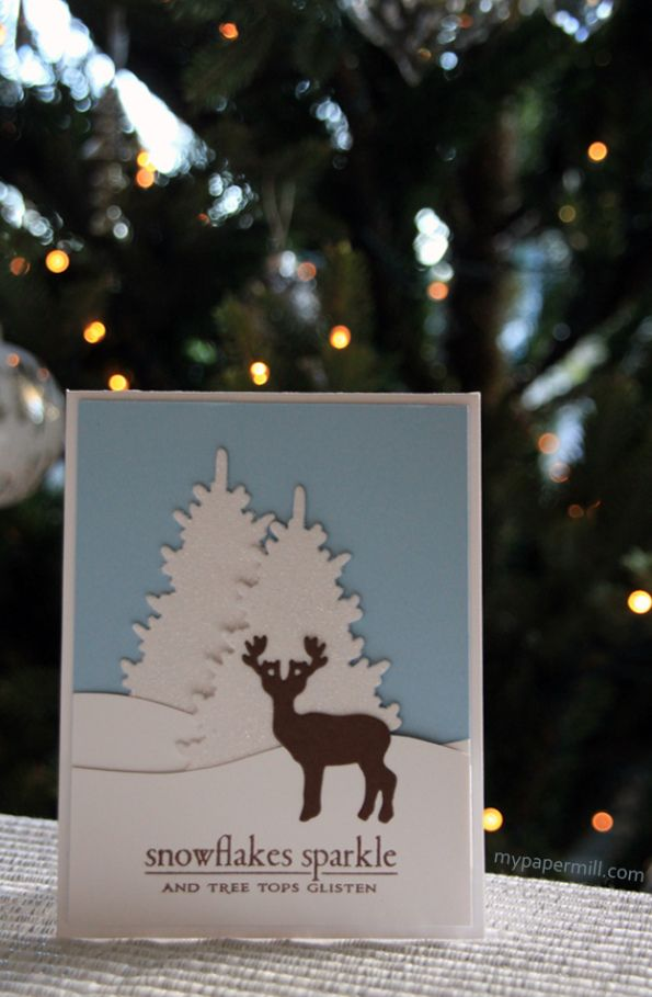Clean and simple Christmas card. Cardstock, dies and stamp by Papertrey Ink.