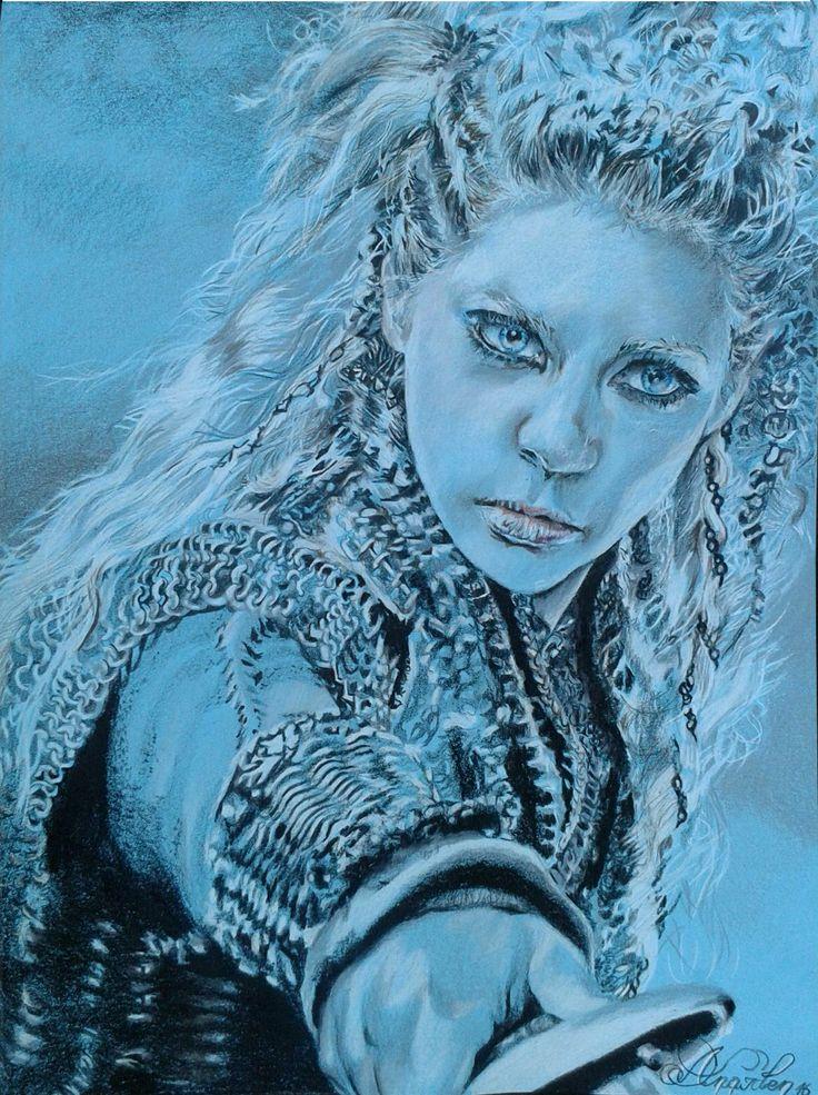 #lagertha #lagerthalothbrok #shildmaid #vikings katherynwinnings #katherynwinnick draw by #danaiden
