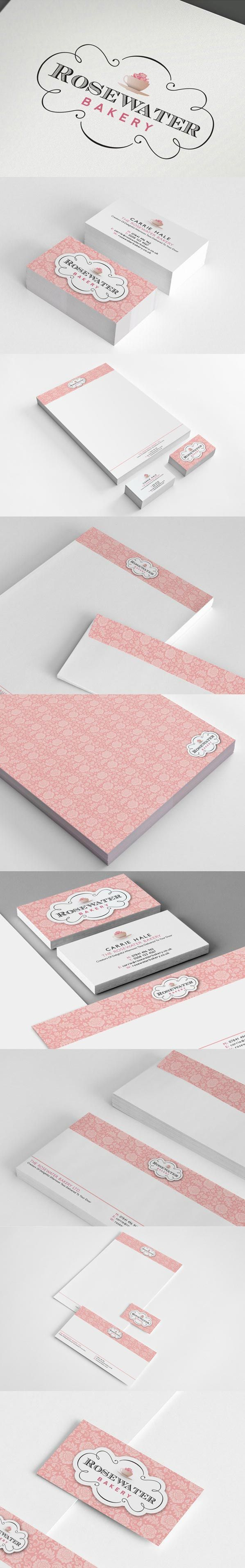 Rosewater Bakery by Geoff Goode branding identity logo stationery