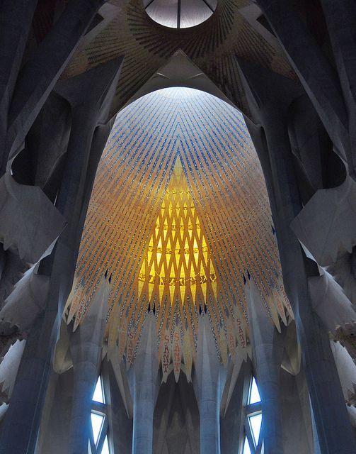 Sagrada Familia skylight, Barcelona, Spain: Antony Gaudi, Sagrada Familia Barcelona, Architecture Barcelona, Holy Families, Sagradafamilia, Barcelona Barcelona, Barcelona Spain, Antonio Gaudi, Familia Skylight