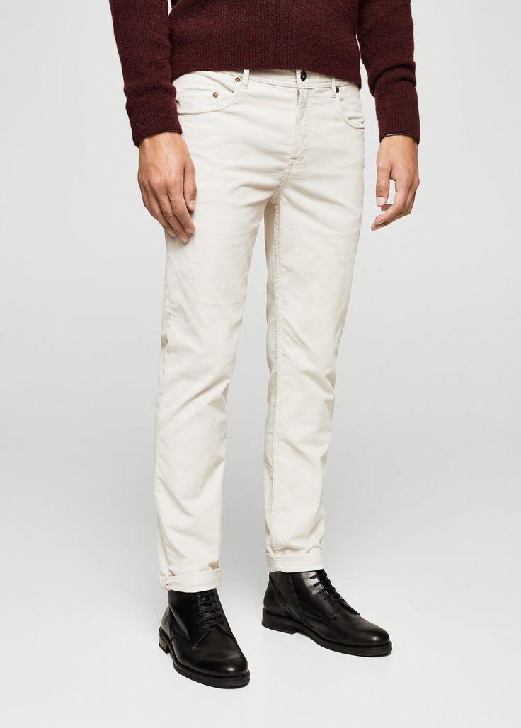 Cotton corduroy trousers - Men | MANGO Man USA