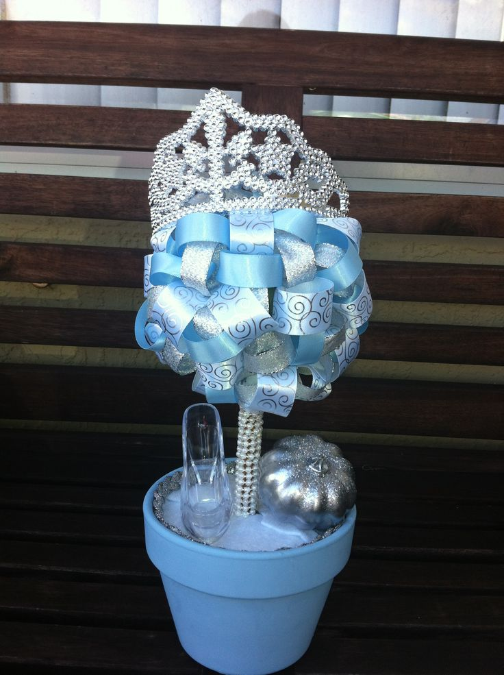 Disney Princess Ribbon Topiary Centerpiece Cinderella
