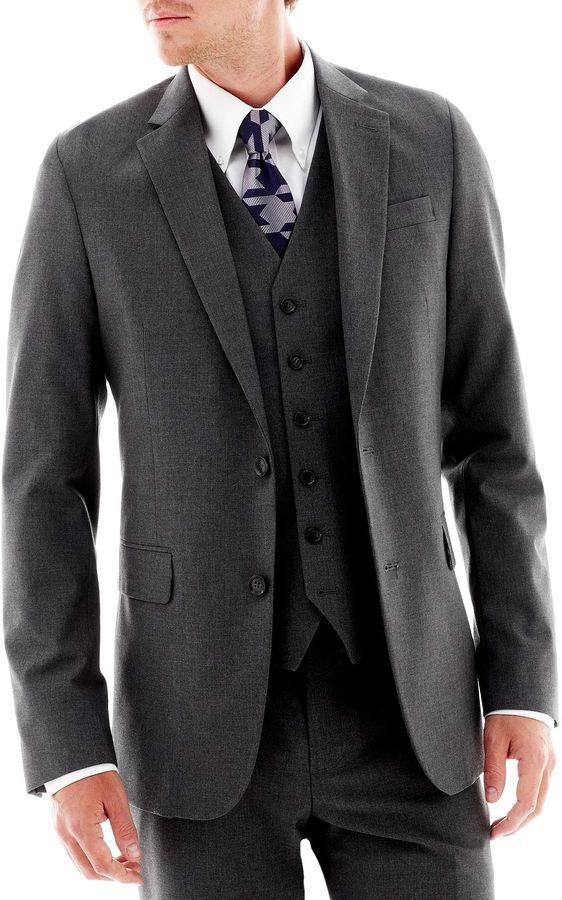 2ff754b186b JF J.Ferrar JF J. Ferrar Stretch Gabardine Suit Jacket - Classic Fit ...