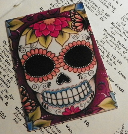 Day Of The Dead sugar skull ACEO painting print by Megan. $4.00, via Etsy.