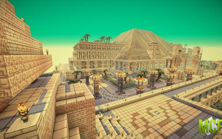 Egyptian Minecraft Pyramid