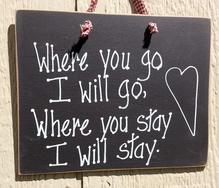 Love wedding sign, you go, I go, togetherness hand painted sign by kpdreams on Etsy