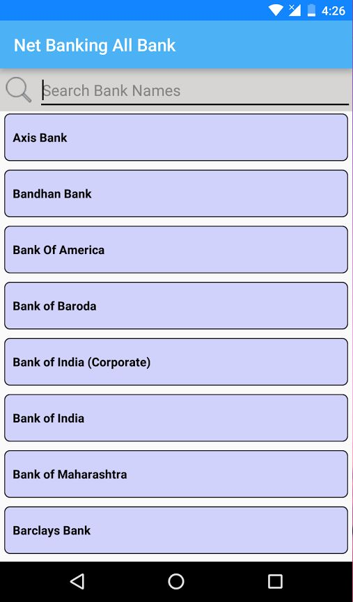 Net Banking Bank
