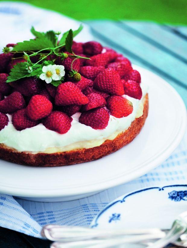 Jordbærtærte med lemoncurd - skøn sommerdessert!