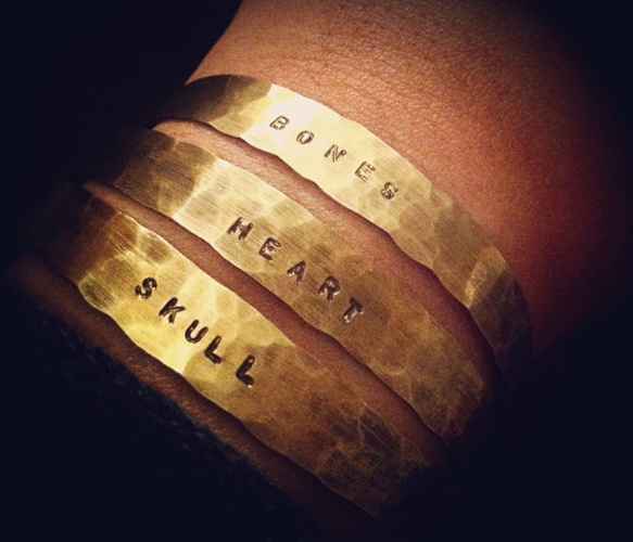 Personalized Stone Cuff made by my awesomely talented friend Lauren!