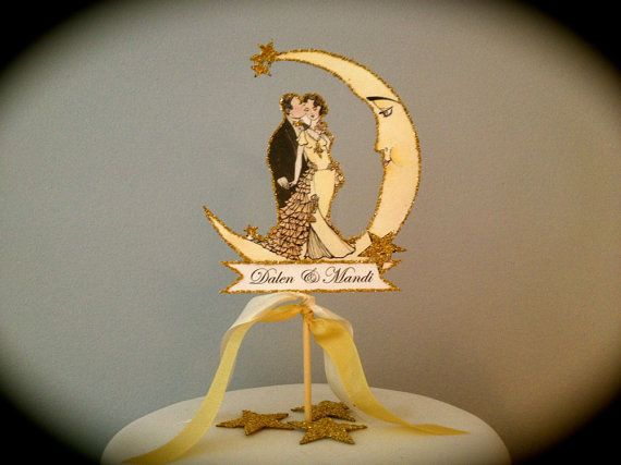 Hollywood glamour wedding cake topper wedding cake toppers size art