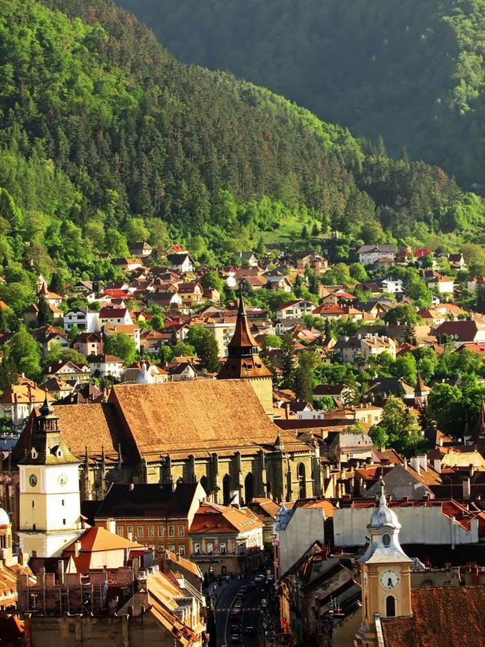 The Wide Green Countryside of Brașov