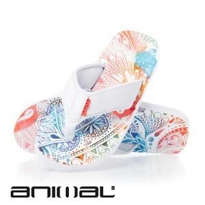 Animal Swish Aop Flip Flops - White